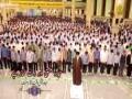 جشن بلوغت برای انجام وظاءف شرعیہ امام خامنہ ای کی اقتداء میں