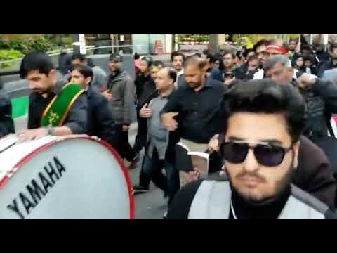 [Noha] Alamdar Moosavi   Arbaeen Walk Downtown, Toronto - Urdu